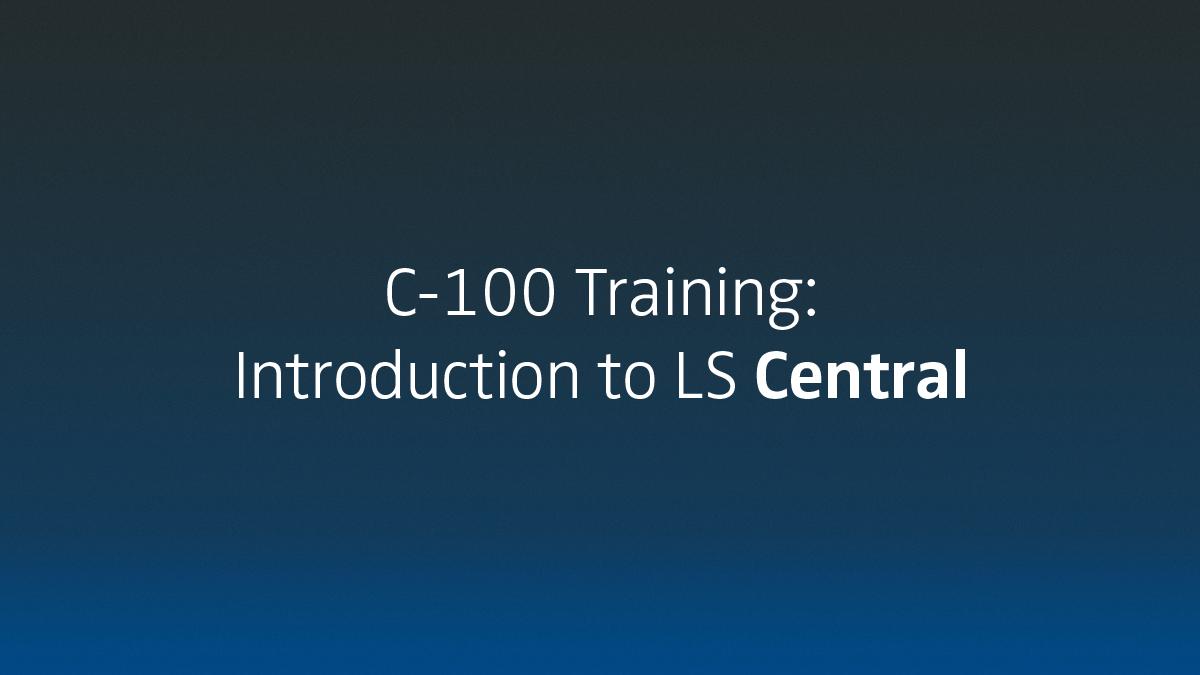 LS Academy training C-100